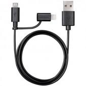 Apple USB töltőkábel USB-ről Micro USB-re vagy Apple Lightning csatlakozóra átalakító Varta 5794310140