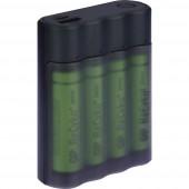 Hengeres akku töltő NiMH Akkukkal GP Batteries Charge Anyway X411 Mikro (AAA), Ceruza (AA)
