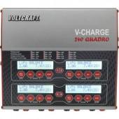 Multifunkciós modell akkutöltő, 12/230V 12A LiPolimer/LiFe/Lítiumion/LiHV/NiCd/NiMH/Ólom, VOLTCRAFT V-Charge 240 Quadro