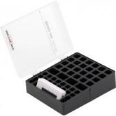 Elemtartó doboz 48 db elemhez, teszterrel, Mikro (AAA), Ceruza (AA), 9 V-os Ansmann