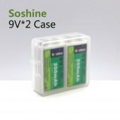Elemtartó doboz 9 V-os Soshine SBC-018 (H x Sz x Ma) 54 x 52 x 19 mm
