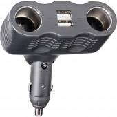 2 részes Szivargyújtó elosztó Szivargyújtó csatlakozók száma 2 x Csatlakozók: USB 2 x Terhelhetőség max. 10 A Conrad A13-123