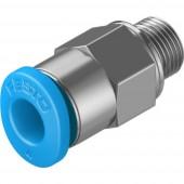 FESTO Egyenes összekötő Cső átmérő: 4 mm Menet méret: M5