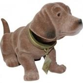 Bólogató kutya autóba, 17 x 8 cm, barna, Formula 563017