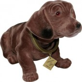 Bólogató kutya autóba, 30 x 10 cm, barna, Formula 563014