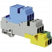 ABB 1SNA 110 327 R2100 Villanyszerelési kapocs 17.8 mm Csavaros csatlakozó Kiosztás: PE, N, L Szürke, Kék, Zöld/Sárga 1 db