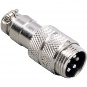 BKL Electronic 0206002 Miniatűr DIN kerek csatlakozó Dugó, egyenes Pólusszám: 5 Ezüst 1 db