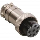BKL Electronic 0206009 Miniatűr DIN kerek csatlakozó Csatlakozóaljzat, egyenes Pólusszám: 6 Ezüst 1 db