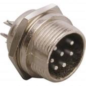 BKL Electronic 0206013 Miniatűr DIN kerek csatlakozó Dugó, beépíthető, függőleges Pólusszám: 4 Ezüst 1 db