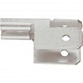 Klauke 755 Laposérintkezős elosztó Dugasz szélesség: 4.8 mm Dugaszolási vastagság: 0.8 mm 90 ° Szigetelés nélkül Fémes 1 db