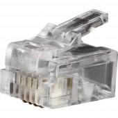 Telefon csatlakozó RJ11 6P4C VDV826-601 Átlátszó Klein Tools VDV826-601 1 db