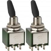 TRU COMPONENTS Billenőkapcsoló 250 V/AC 2 A 1 x BE/BE Reteszelő 2 db