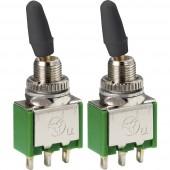 TRU COMPONENTS Billenőkapcsoló 250 V/AC 2 A 2 x BE/BE Reteszelő 2 db