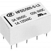Hongfa HFD2/005-S-D Nyák relé 5 V/DC 3 A 2 váltó 1 db