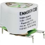 Akkucsomag, Emmerich speciál NiMH R10 3,6 V, nyákcsatlakozó 170 mAh, 3, Raszterméret 10, 1 db, 3032-C1-R9