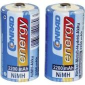 Baby akku C NiMH, 1,2V 2200 mAh, 2 db, Conrad Energy LR14, LR15, C, AM2, MN1400, 814, E93, LR14N, UM2
