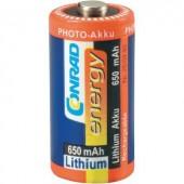 CR123A akku lítium 3V 650 mAh, Conrad Energy