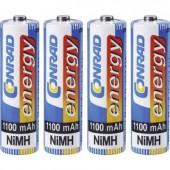 Ceruza akku AA, NiMH, 1,2V 1100 mAh, 4 db, Conrad Energy LR06, AA, LR6, AAB4E, AM3, 815, E91, LR6N
