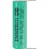 Forrasztható ceruza akku AA NiMH 1,2V 700 mAh, forrfüles, Emmerich FT-PS