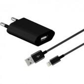 Apple iPhone, iPad hálózati töltő, Lightning csatlakozóval 100-240V/AC 5V/DC 2400 mA Goobay 43790