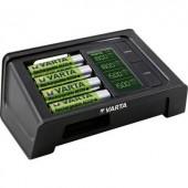 Ceruza AA, mikroceruza AAA automata akkumulátor töltő, LCD kijelző + USB töltő + 4 db 2100mAh akkuval, Varta LCD Smart