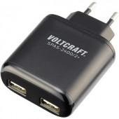 Hálózati USB töltő adapter, 2 USB aljzattal 100-240V/AC max.4800 mA VOLTCRAFT SPAS-2400/2+