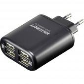 Hálózati USB töltő adapter 4 USB aljzattal 100-240V/AC 5V/DC max. 4800mA Voltcraft SPAS-4800/2+2