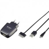 Hálózati USB töltő adapter, Micro USB kábellel 100-240V/AC 5V/DC max. 2100 mA Voltcraft SPS-2100m