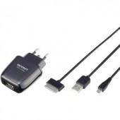 Samsung Galaxy hálózati USB töltő, USB és Galaxy Tab csatlakozóval 100-240V/AC 5V/DC max. 2100 mA Voltcraft CPS-2100g