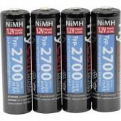 Ceruza akku AA, NiMH, 1,2V 2700 mAh, 4 db, HyCell LR06, AA, LR6, AAB4E, AM3, 815, E91, LR6N