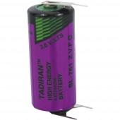 2/3 AA lítium elem, forrasztható, 3,6V 1500 mAh, forrfüles, 15 x 33 mm, Tadiran SL761PT