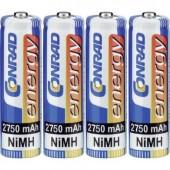 Ceruza akku AA, NiMH, 1,2V 2750 mAh, 4 db, Conrad Energy LR06, AA, LR6, AAB4E, AM3, 815, E91, LR6N