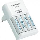 Gyorstöltő + 4 x Eneloop ceruza akku, Panasonic PLG-MQR06-E-4-3UTGB