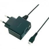 Micro USB hálózati töltő adapter 100-240V/AC 5V/DC 1000mA Basetech PPC-5MU