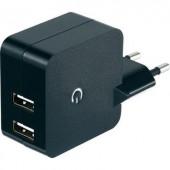 Hálózati USB töltő adapter, 2 USB aljzattal 100-240V/AC 2 x 1200 mA VOLTCRAFT SPS-2400/2