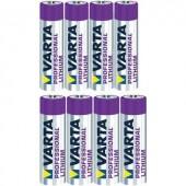 Lítium elemkészlet 4xAAA  4xAA  Varta Professional