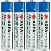 Mikroelem AAA, alkáli mangán, 1,5V, 4 db, Agfa LR03, AAA, LR3, AM4M8A, AM4, S