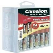 Ceruzaelem AA, alkáli mangán, 1,5V, 24 db, Camelion Box LR06, AA, LR6, AAB4E, AM3, 815, E91, LR6N