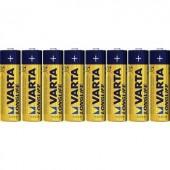 Ceruzaelem AA, alkáli mangán, 1,5V, 8 db, Varta Longlife LR06, AA, LR6, AAB4E, AM3, 815, E91, LR6N