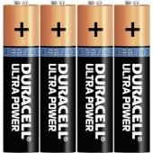 Mikroelem AAA, alkáli mangán, 1,5V, 4 db, Duracell Ultrapower LR03, AAA, LR3, AM4M8A, AM4, S