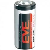 2/3 AA lítium elem, 3,6V 1650 mAh, 14,5 x 33,5 mm, EVE ER14335