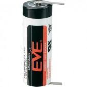 A lítium elem, forrasztható, 3,6V 3600 mAh, forrfüles, 17,5 x 51 mm, EVE ER17505T