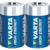 Góliát elem D, alkáli mangán, 1,5V, 2 db, Varta High Energy LR20, D, AM1, XL, MN1300, 813, E95, LR20N, 13A