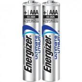 Mikroelem AAA, lítium, 1,5V 1250 mAh, 2 db, Energizer Hi Energy LR03, AAA, LR3, AM4M8A, AM4, S