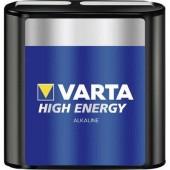 4,5V-os laposelem, alkáli mangán, 6100 mAh, Varta High Energy 3R12, 3LR12, 1203, V4912, MN1203, 312G, LR12, 4,5 V Block