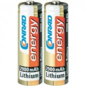 Ceruzaelem (AA), lítium, 1,5V 2900 mAh, 2 db, Conrad Energy Extreme Power LR06, AA, LR6, AAB4E, AM3, 815, E91, LR6N