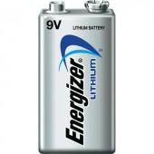 9V-os elem, lítium, 9V, Energizer 6LR61, 6LR21, 6AM6, 6LP3146, MN1604, A1604, E Block, LR22