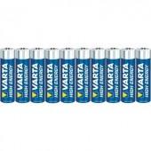 Mikroelem AAA, alkáli mangán, 1,5V, 10 db, Varta High Energy LR03, AAA, LR3, AM4M8A, AM4, S