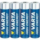 Mikroelem AAA, alkáli mangán, 1,5V, 4 db, Varta High Energy LR03, AAA, LR3, AM4M8A, AM4, S