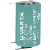 1/2 AA lítium elem, forrasztható, 3V 970 mAh, forrfüles, 15 x 25 mm, Varta CR 1/2 AA SLF